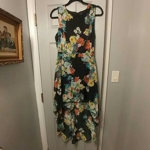 FOREVER 21 HIGH LOW FLORAL DRESS